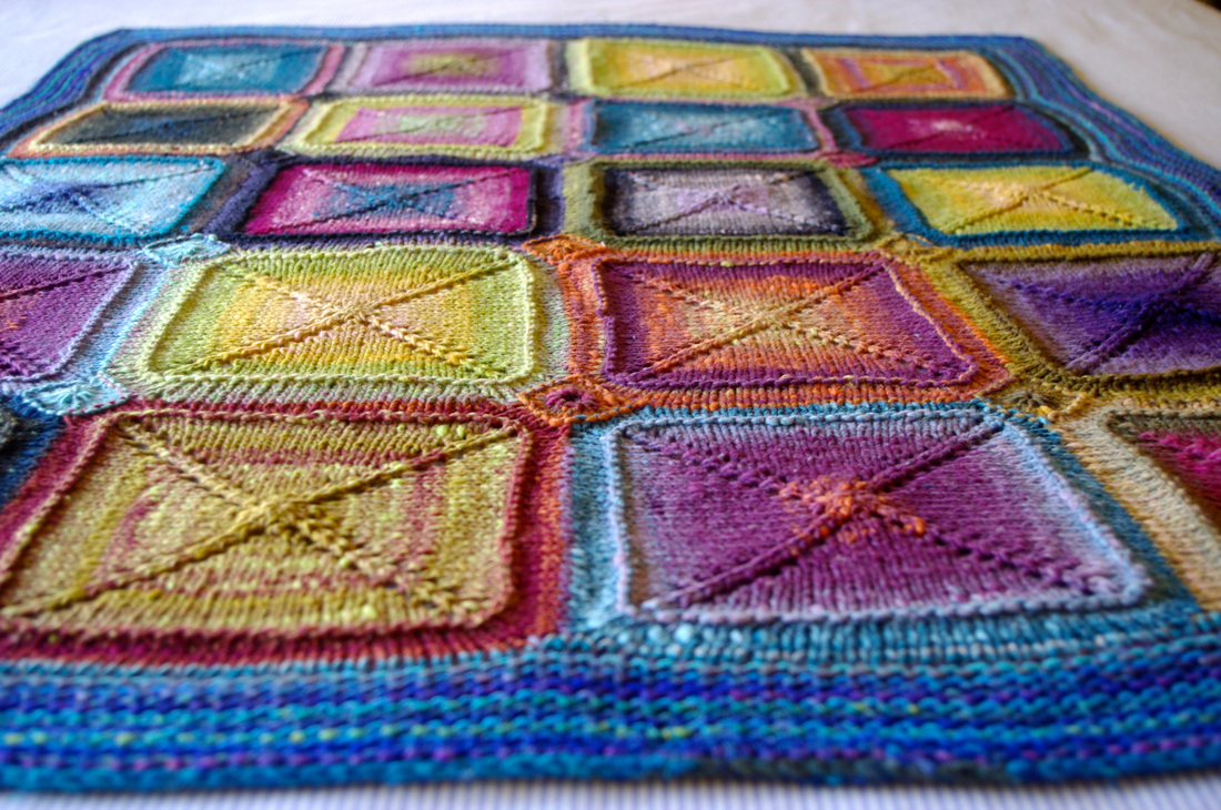 Knitted Granny Square Patterns : knitting blankets and a pattern for mitred squares knit as you go - tikki